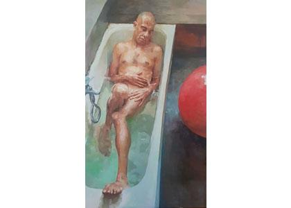 """שיחה ומפגש עם הצייר אלכס ברויטמן בתערוכה """"לשמור מרחק"""" 6.4"""