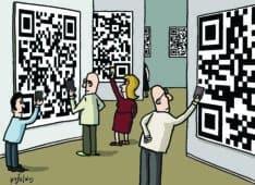 בועת ציור: קריקטורות על אמנות